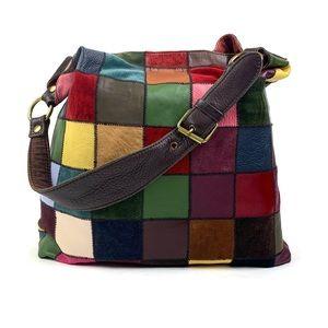 Lucky Brand Colorful Patchwork Hobo Shoulder Bag